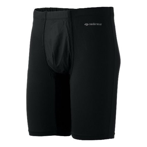 Mens Brooks Equilibrium Windbrief Boxer Underwear Bottoms - Black XL