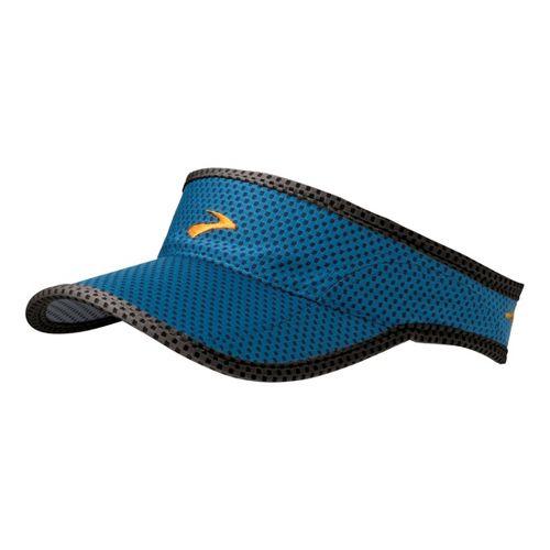 Mens Brooks Sunshield Visor Headwear - Baltic/Black