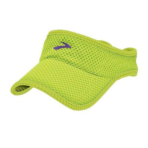 Mens Brooks Sunshield Visor Headwear - Citron/Royal Purple