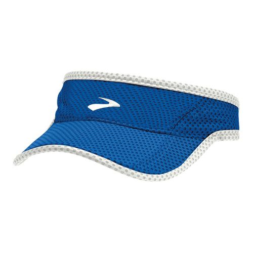 Mens Brooks Sunshield Visor Headwear - Electric/White