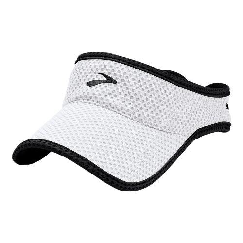 Mens Brooks Sunshield Visor Headwear - White