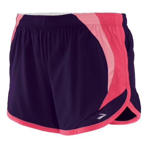 Womens Brooks Infinity II Lined Shorts - Blackberry S