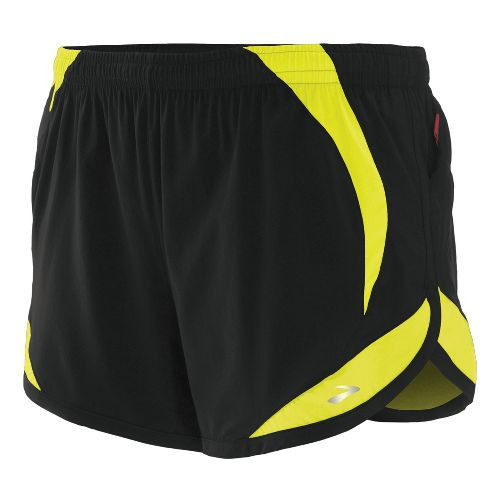 Womens Brooks Infinity II Lined Shorts - Black/Nightlife L