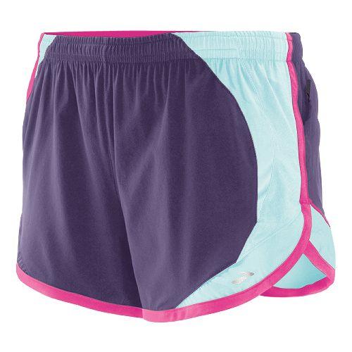 Womens Brooks Infinity II Lined Shorts - Eggplant/Sea Foam XL
