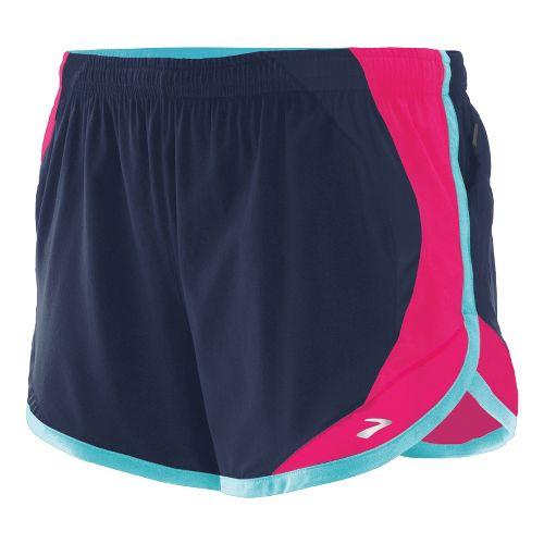 Womens Brooks Infinity II Lined Shorts - Midnight/Pomegranate S