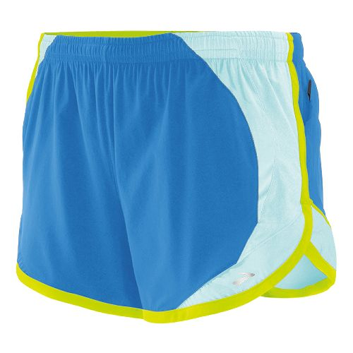 Womens Brooks Infinity II Lined Shorts - Neptune/Sea Foam L