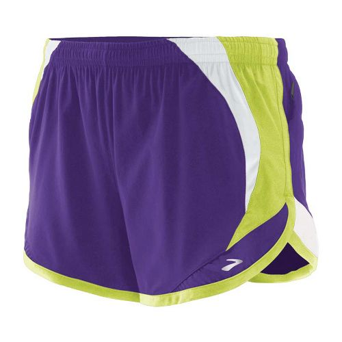 Womens Brooks Infinity II Lined Shorts - Royal Purple/Citron XL