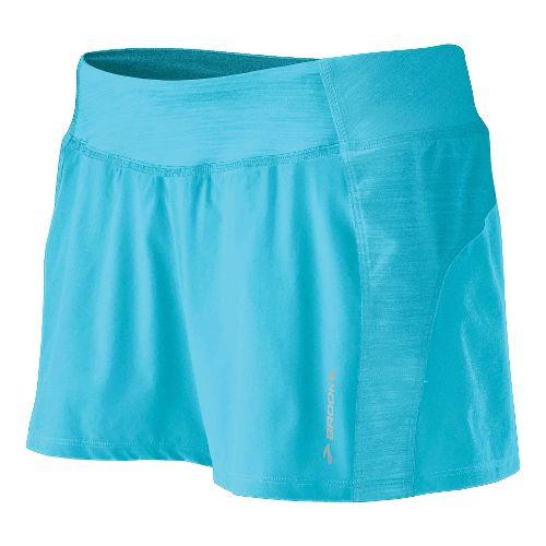 Womens Brooks Glycerin Short Lined Shorts - Aqua XL