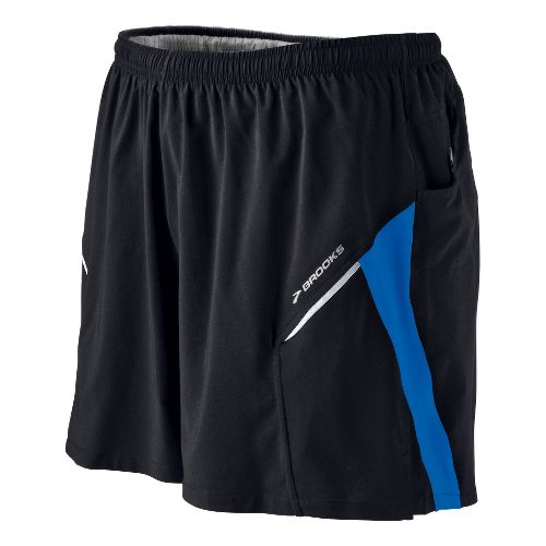 Mens Brooks Sherpa III Lined Shorts - Black/Kodiak M