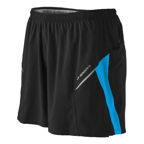 Mens Brooks Sherpa III Lined Shorts - Black/Mediterranean L