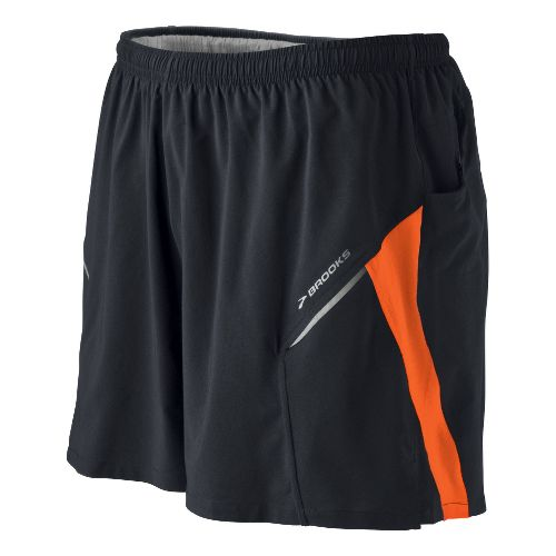 Mens Brooks Sherpa III Lined Shorts - Black/Energy M