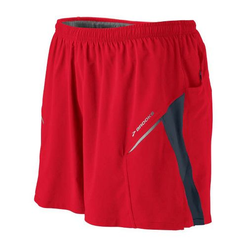 Mens Brooks Sherpa III Lined Shorts - Lava/Anthracite L