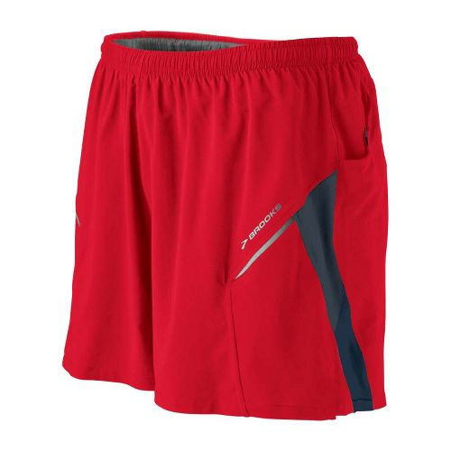 Mens Brooks Sherpa III Lined Shorts - Lava/Torch XL