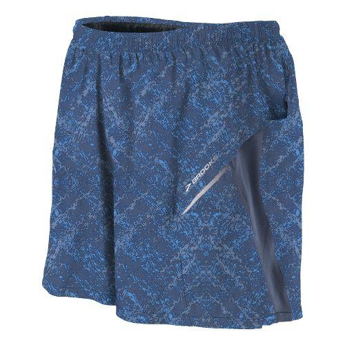 Mens Brooks Sherpa III Lined Shorts - Midnight Splatter Print/Midnight L
