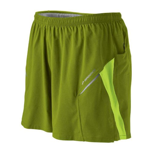 Mens Brooks Sherpa III Lined Shorts - Moss/Lime Green M