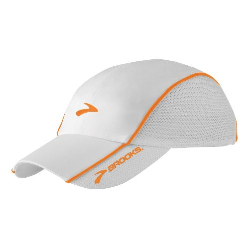 Brooks HVAC Infiniti Mesh Hat Headwear - White/Sandstone