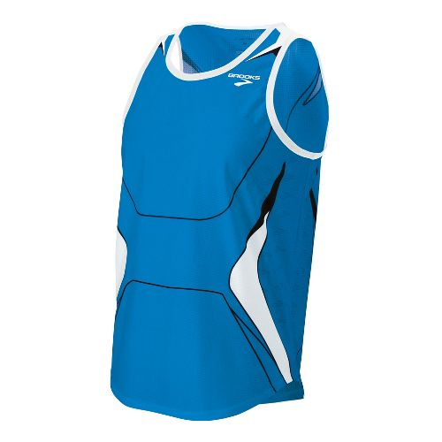 Mens Brooks ID Elite Singlet Technical Tops - Brooks Blue L