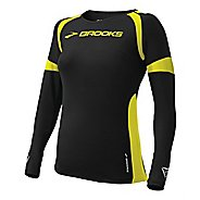 Womens Brooks ID Elite Long Sleeve No Zip Technical Tops
