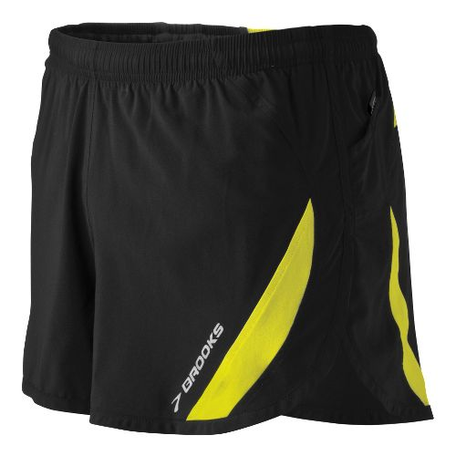 Mens Brooks ID Elite Splits Shorts - Black L
