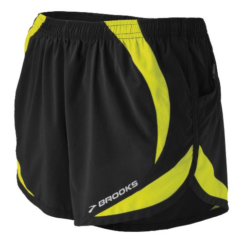 Womens Brooks ID Elite Splits Shorts - Black L
