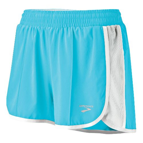 Womens Brooks Epiphany Stretch II Lined Shorts - Aqua L