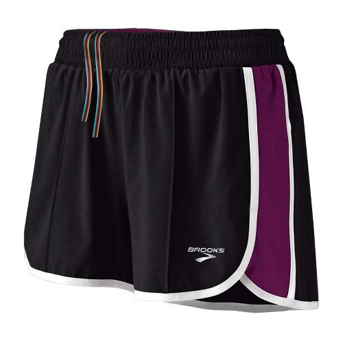 Womens Brooks Epiphany Stretch II Lined Shorts - Black/Plum S