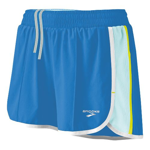 Womens Brooks Epiphany Stretch II Lined Shorts - Neptune/Sea Foam S