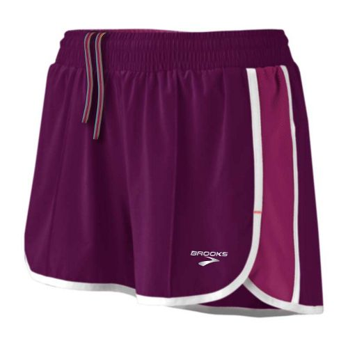 Womens Brooks Epiphany Stretch II Lined Shorts - Plum/Vino XS