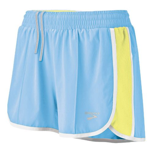 Womens Brooks Epiphany Stretch II Lined Shorts - Powder XL