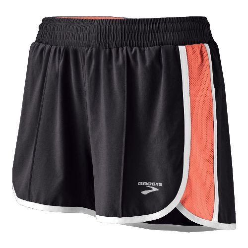 Womens Brooks Epiphany Stretch II Lined Shorts - Shadow/Coral XL
