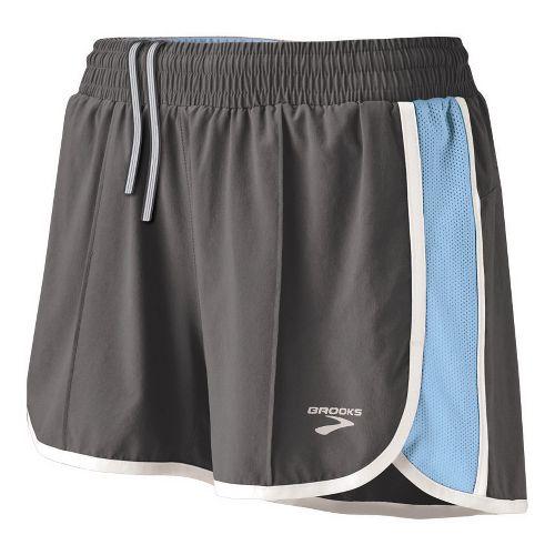 Womens Brooks Epiphany Stretch II Lined Shorts - Slate/Powder XL