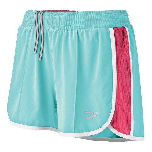 Womens Brooks Epiphany Stretch II Lined Shorts - Tropic L