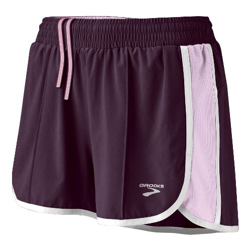 Womens Brooks Epiphany Stretch II Lined Shorts - Winter Plum/Orchid Ice XS
