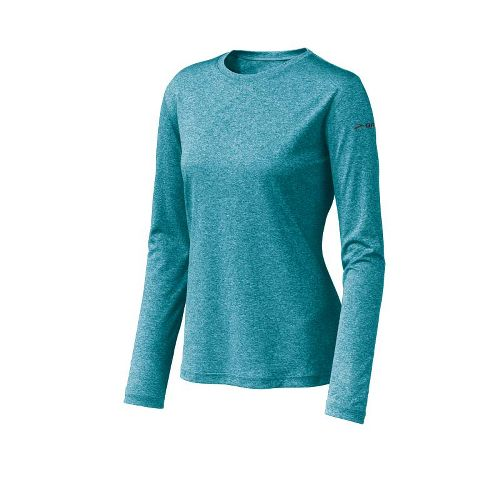 Womens Brooks EZ T Long Sleeve No Zip Technical Tops - Tourmaline M