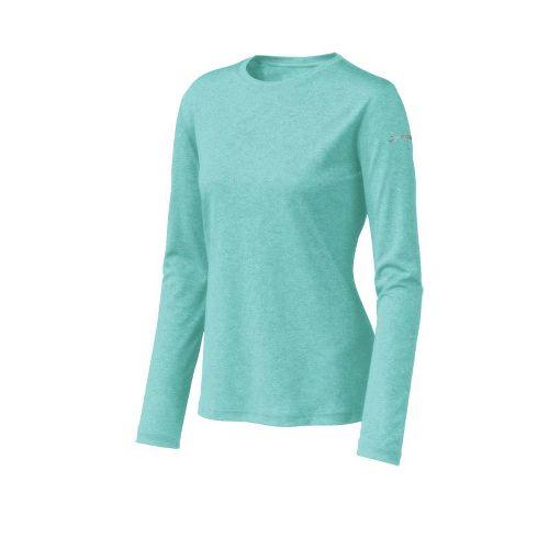 Womens Brooks EZ T Long Sleeve No Zip Technical Tops - Tropic L