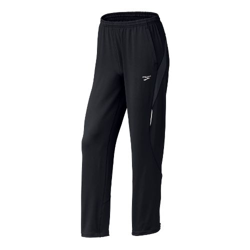 Mens Brooks Vapor-Dry 3D Stadium II Pant Full Length Pants - Black S