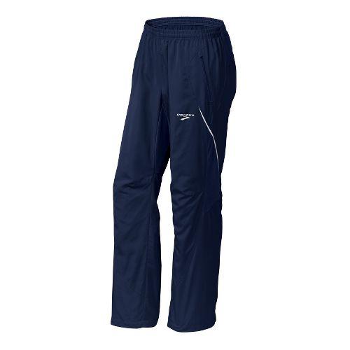 Mens Brooks Essential Run Wind Cold weather Pants - Obsidian XS