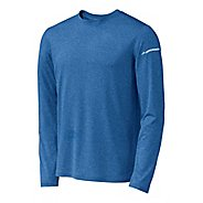 Mens Brooks EZ T Long Sleeve No Zip Technical Tops