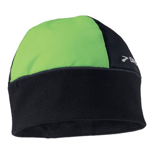 Mens Brooks Infiniti Beanie Headwear - Black/Green