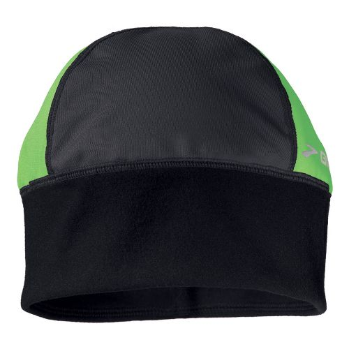 Womens Brooks Infiniti Beanie Headwear - Black/Bali Green