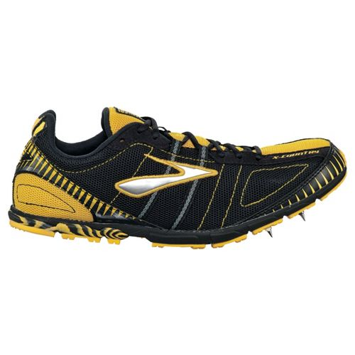 Mens Brooks Mach 12 Spike Racing Shoe - Maize/White 7.5