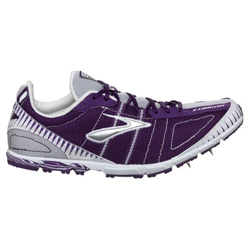 Womens Brooks Mach 12 Spike Racing Shoe - Imperial Purple/White 8.5