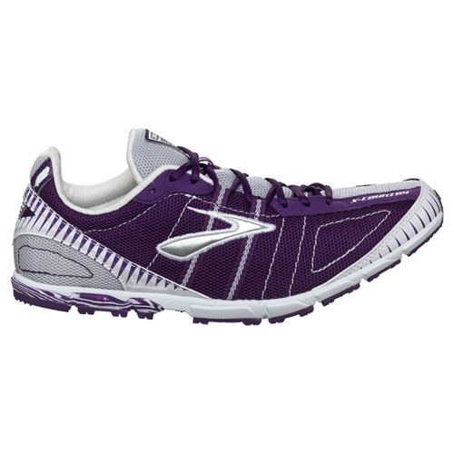 Womens Brooks Mach 12 Spikeless Racing Shoe - Imperial Purple/White 8.5