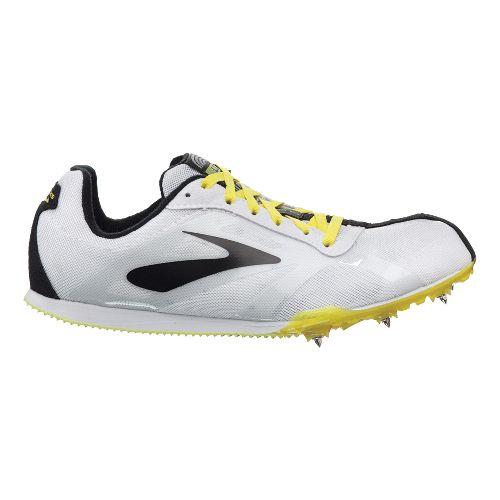 Mens Brooks PR LD Track and Field Shoe - White/Nightlife 12.5
