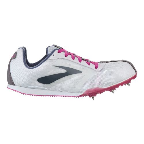 Womens Brooks PR LD Track and Field Shoe - White/Gemma 6