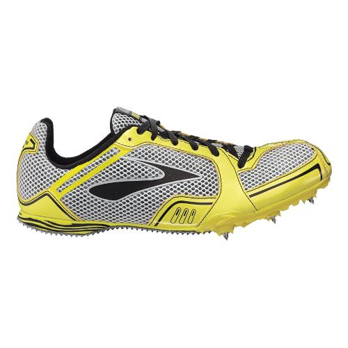 Mens Brooks PR MD Track and Field Shoe - Blazing Yellow 8