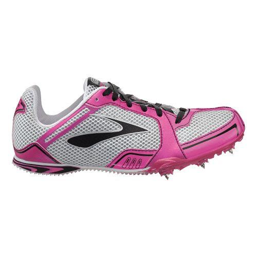 Womens Brooks PR MD Track and Field Shoe - Gemma/Silver 7