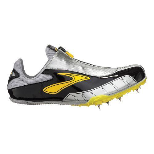 Mens Brooks PR Sprint Track and Field Shoe - Blazing Yellow/Black 10.5