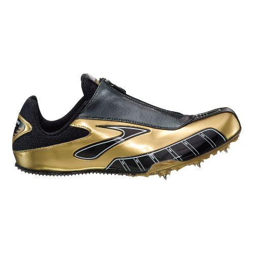Mens Brooks PR Sprint Track and Field Shoe - Metallic Gold/Silver 6.5