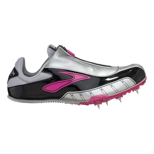 Womens Brooks PR Sprint Track and Field Shoe - Gemma/Silver 8.5